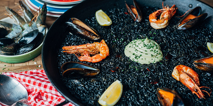 Squid Ink & Prawn Paella, La Paloma, Sai Ying Pun, Hong Kong