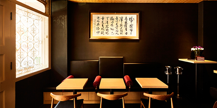 Banquette Seats of Tang Restaurant and Bar in Keong Saik Road, Singapore