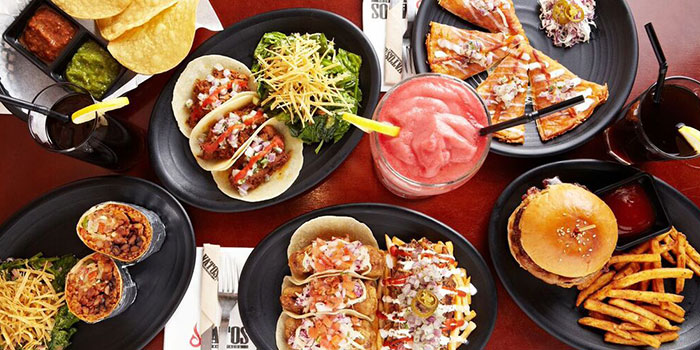 Food Spread from Vatos Urban Tacos in Bugis, Singapore