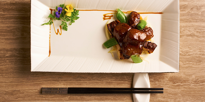 Wok-Fried Wagyu Beef from Cassia serving Chinese cuisine at Capella Hotel on Sentosa Island, Singapore