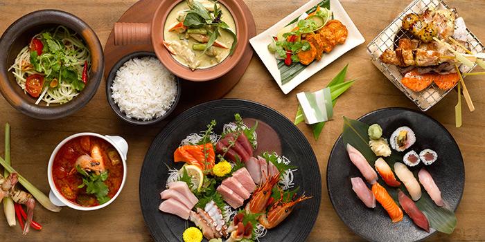 Thai Yakitori Sushi Spread from mezza9 in Grand Hyatt Singapore in Orchard, Singapore