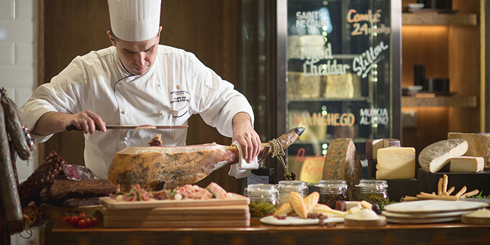Charcuterie & Cheese Room in Ash & Elm in InterContinental Singapore in Bugis, Singapore