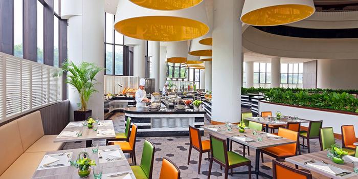Interior of Atrium Restaurant in Holiday Inn Singapore Atrium in Outram, Singapore