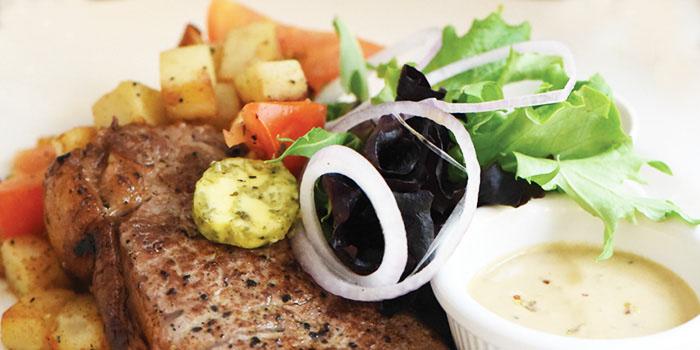 Steak with Warm Potato Salad from Fika Swedish Cafe & Bistro (Beach Road) in Bugis, Singapore