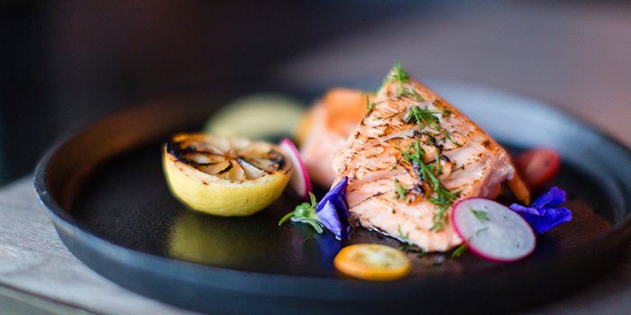 Grilled Salmon, The Gril Room, Causeway Bay, Hong Kong