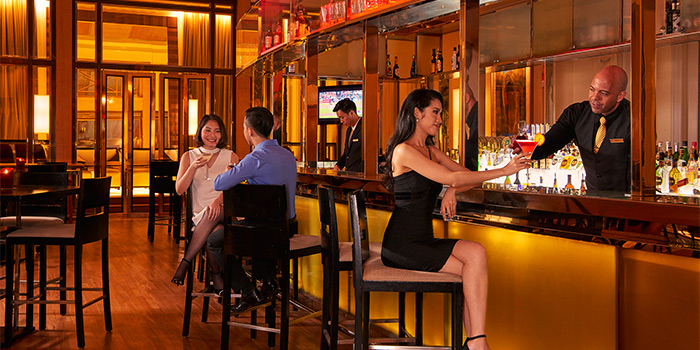Main Bar of Post Bar in The Fullerton Hotel, Singapore