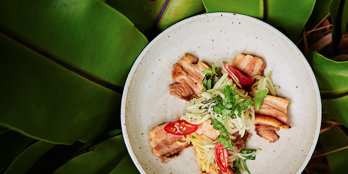 Pressed Pork Belly with Homemade Thai Chilli Sauce from A*MUSE Omakase in Tiong Bahru, Singapore