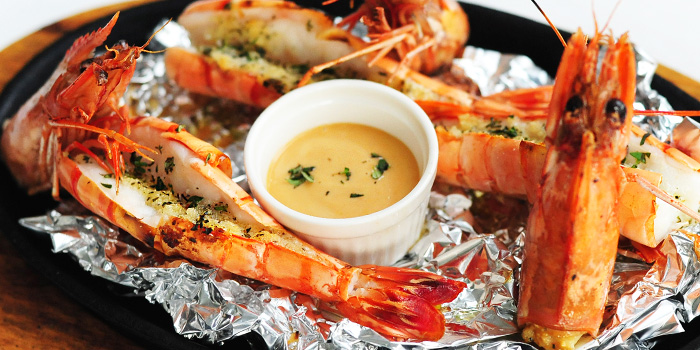 Gambas from Sabio By The Sea in Sentosa, Singapore