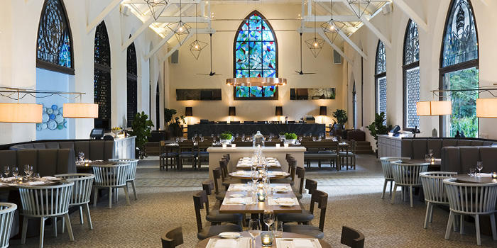Interior of The White Rabbit serving Modern European cuisine in Dempsey, Singapore