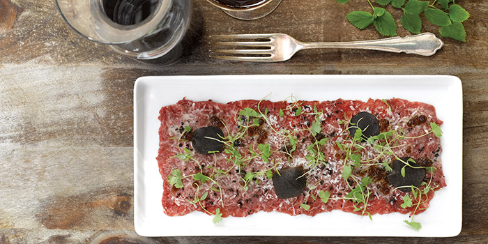 Wagyu Carpaccio from The White Rabbit serving Modern European cuisine in Dempsey, Singapore