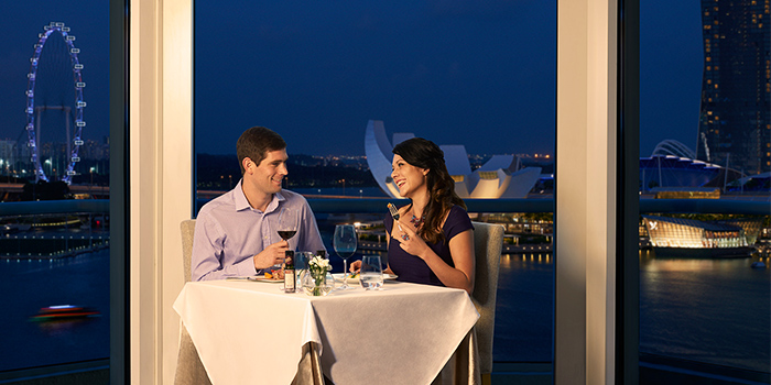 Diners from The Lighthouse in Fullerton, Singapore