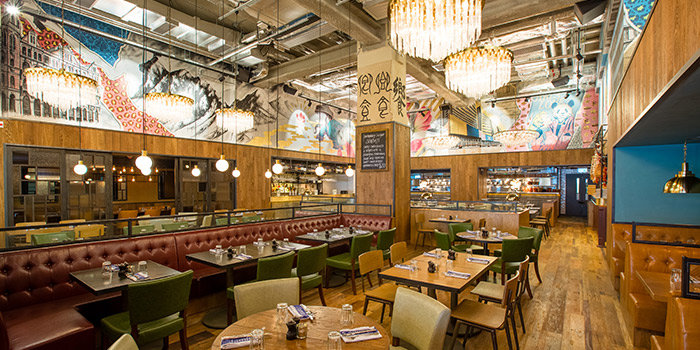 Interior of Jamie's Italian, Tsim Sha Tsui, Hong Kong