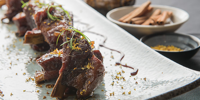 Cinnamon Ribs with Osmanthus from Xi Yan Private Dining in Tanjong Pagar, Singapore