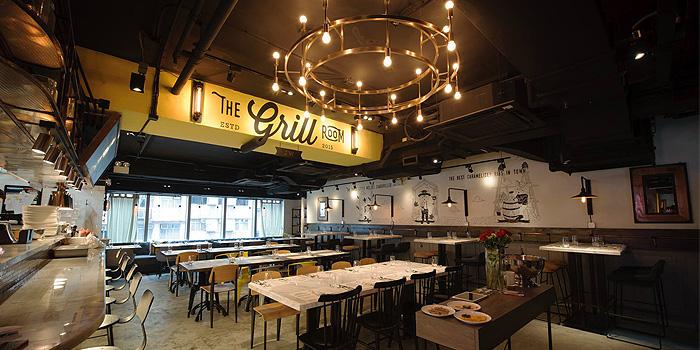 Interior of The Grill Room, Causeway Bay, Hong Kong
