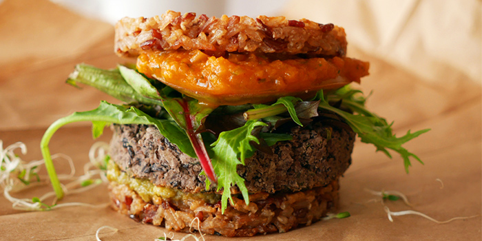 Raw Burger from Afterglow on Keong Saik Road in Chinatown, Singapore