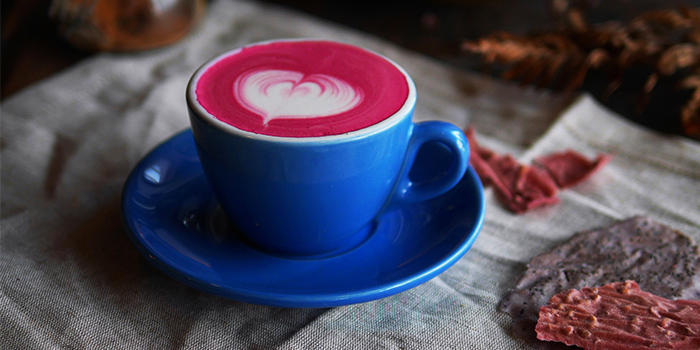 Pink Soy Latte from Afterglow on Keong Saik Road in Chinatown, Singapore