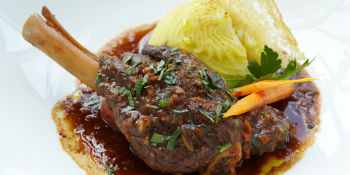 Braised Lamb Shank with Mashed Potato & Baby Carrot from Café Milano at Sindhorn Tower on Wireless Road, Bangkok