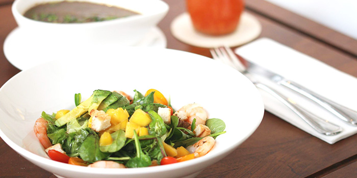 Prawn Salad from Da Paolo HQ Club Street in Raffles Place, Singapore