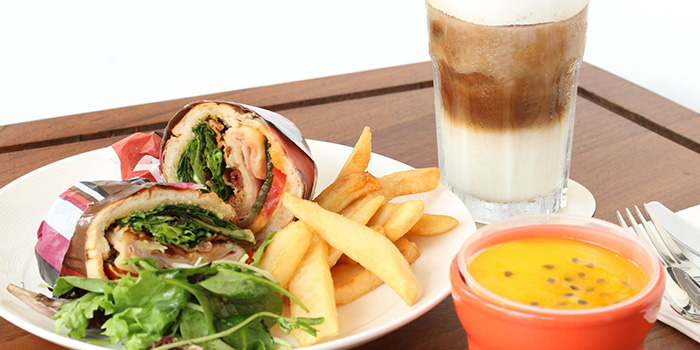 Sandwich Wrap from Da Paolo HQ Club Street in Raffles Place, Singapore
