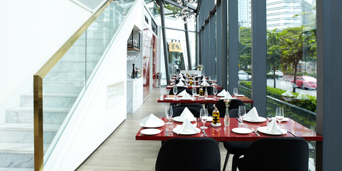 Dining Area from Café Milano at Sindhorn Tower on Wireless Road, Bangkok