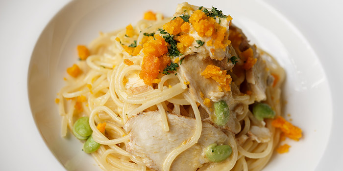 Salted Egg Chicken Pasta from Good Thyme Bistro in Ang Mo Kio, Singapore