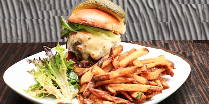Burger from Little Diner in Bukit Timah, Singapore