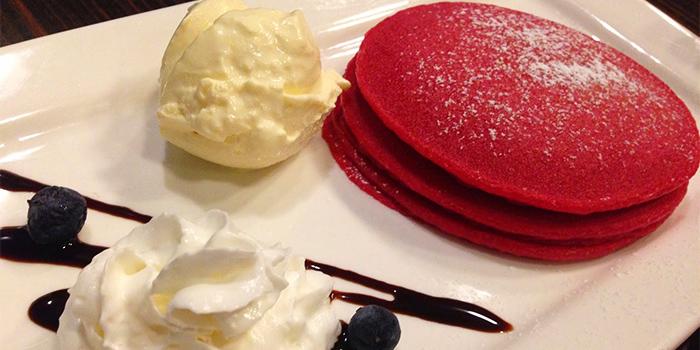 Red Velvet Pancakes from Little Diner in Bukit Timah, Singapore
