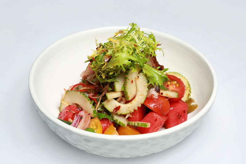 Watermelon Cucumber Jalapeno Salad at The Laneway, Bali