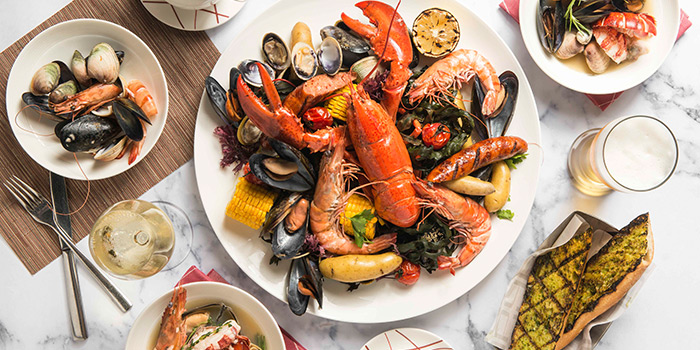 Signature New England Seafood Boil from db Bistro & Oyster Bar in The Shoppes at Marina Bay Sands, Singapore