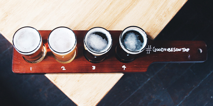 Beer Paddles from Freehouse in Raffles Place, Singapore