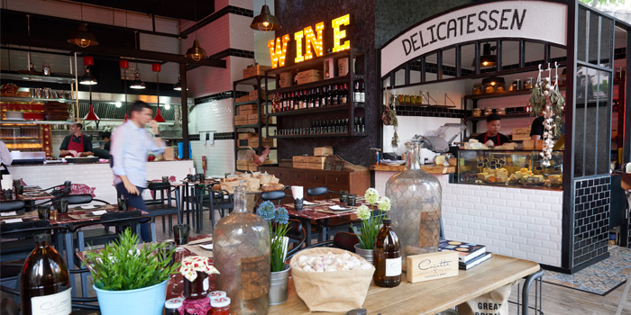 Interior of Cocotte Farm Roast & Winery on Sukhumvit Soi 39, Bangkok