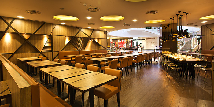 Interior of Nalan Restaurant in Capitol Piazza in City Hall, Singapore