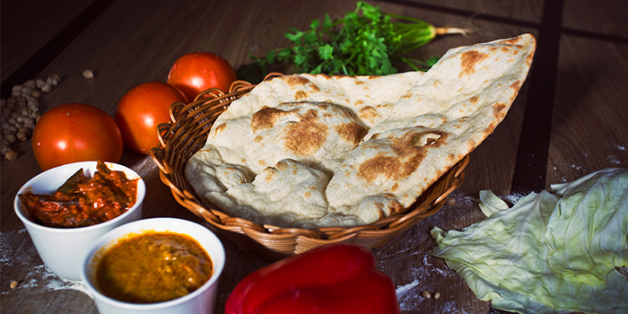 Naan from Nalan Restaurant in Capitol Piazza in City Hall, Singapore