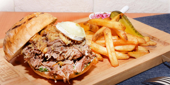 Pulled Lamb Burger, Texas Burger, Tin Hau, Hong Kong