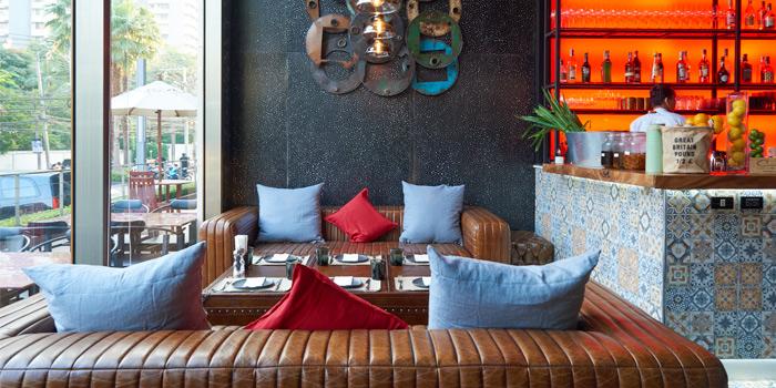 Sofa of Cocotte Farm Roast & Winery on Sukhumvit Soi 39, Bangkok