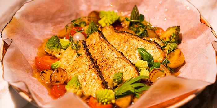Black Cod Baked in Cartoccio from Aura at National Gallery Singapore in City Hall, Singapore