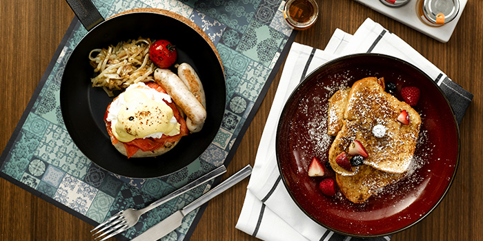 Eggs Benedict & Cinnamon French Toast from Baba Chews Bar and Eatery in Hotel Indigo Singapore Katong in East Coast, Singapore