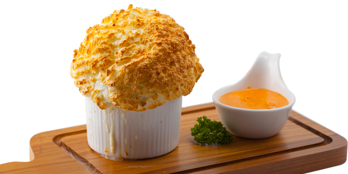 Crab Souffle Served With Pink Prawn Sauce from Kelly by Audrey Esplanade Ratchada, Bangkok
