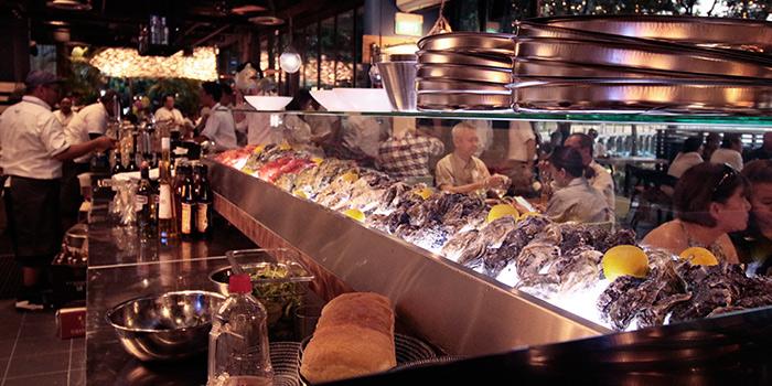 Interior of Greenwood Fish Market along Quayside Isle in Sentosa, Singapore