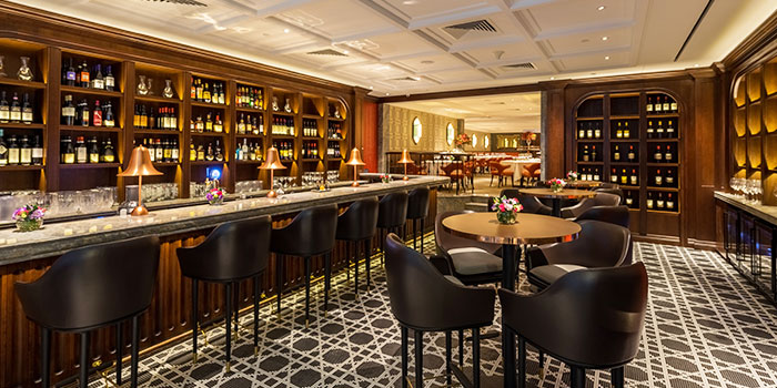 Bar Area of Osteria Art in Raffles Place, Singapore