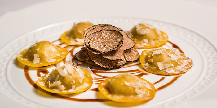 Beef Agnolotti with Truffle and Roast Jus from Osteria Art in Raffles Place, Singapore
