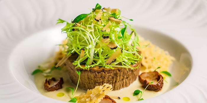Porcini Mushroom Flan with Truffle Leek Veloute from Osteria Art in Raffles Place, Singapore