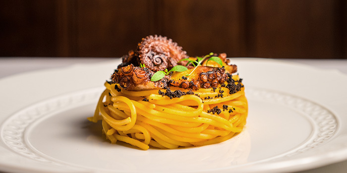 Spaghetti with Octopus from Osteria Art in Raffles Place, Singapore