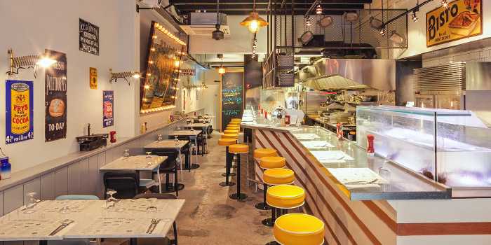 Interior of The Market Grill in Tanjong Pagar, Singapore