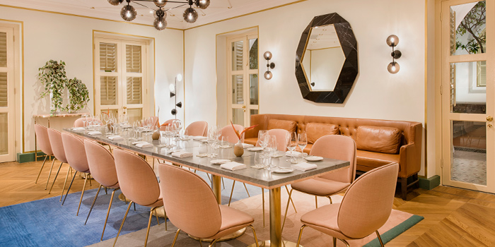 Private Dining Room in Whitegrass at CHIJMES in City Hall, Singapore
