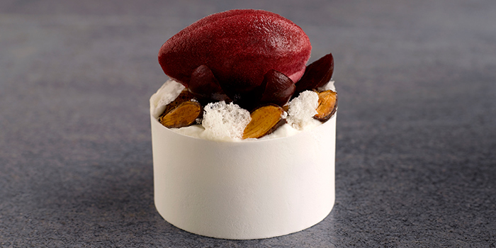 Young Coconut Mousse from Whitegrass at CHIJMES in City Hall, Singapore
