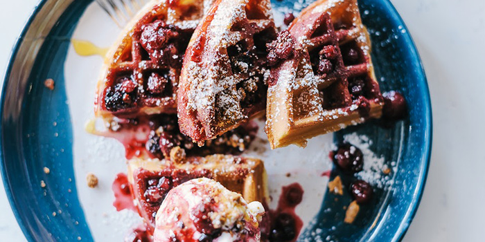 Mixed Berries Waffle from Atlas Coffeehouse in Bukit Timah, Singapore