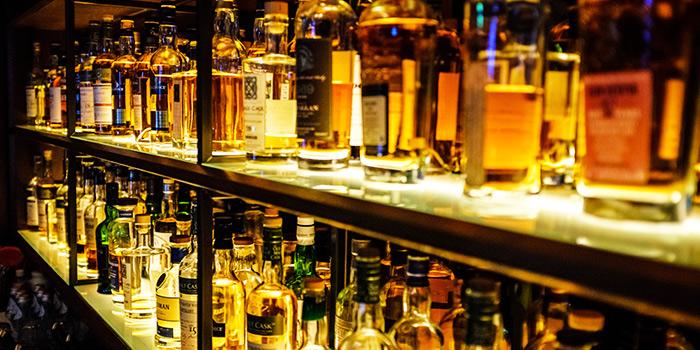 Liquor Shelf of B28 in Chinatown, Singapore