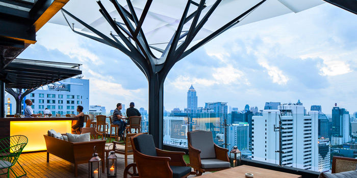 Dining Area from Above Eleven in Sukhumvit Soi 11, Bangkok