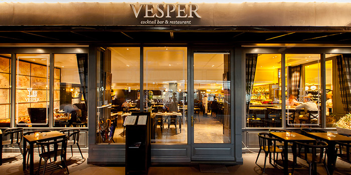 Exterior of Vesper Cocktail Bar & Restaurant in Silom, Bangkok